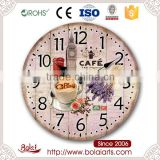Garden art noiseless different creative fashion designs decorative wall clock for kitchen