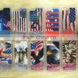 USA UK Flag Liquid Glitter Stars Bling Moving Latest Design TPU Case Cover For iPhone & Samsung