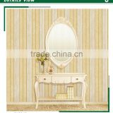 cheapest foaming non woven wallpaper, lemon yellow simple wide stripe wallcovering for kitchen , new fashion wall sticker roll