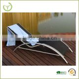 HL-B-14006 Iron & aluminum chaise sun lounge chair/swimming pool lounge bed /lightweight beach sun bed