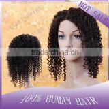 In stock Hot sale 100% Brazilian Remy Virgin human hair Kinky curly 1b# Full lace wigs for Africa American women Free shipping