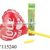 Cheering balloon stick heart shape foil balloon with stick with light and sound inflatable loving heart kids toy balloon