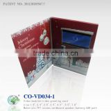 "5.0""LCD greeting card,video player greeting card,video display greeting card for Christmas day,"