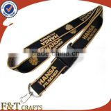 handmade wholesale polyster nylon lanyard celebrate ribbon with hot foil printing logo for medal
