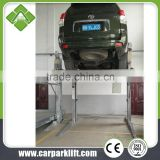 two post parking lift with remote control system, smart parking system for home garage usage