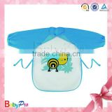 2015 Hot Sale Cute PEVA Waterproof Long Sleeves Baby Bibs Wholesale                                                                         Quality Choice