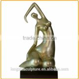 Modern Painted Nude Girl Fiberglass Sculpture for Theme Park