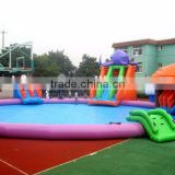 Lanqu Pool Aqua Park with slide Inflatable Combo for business