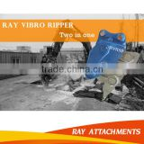 Hydraulic Excavator mounted vibro hammer to breaker rock                                                                         Quality Choice