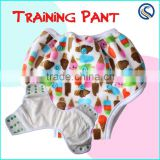 Happyflute Training Pants Reusable Side Snap Potty Toddler Training Pants OEM personal pritns