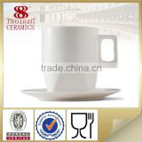 bulk white ceramic stonware tall cup and mug for wholesale
