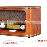 retro am/fm radio with built-in speaker