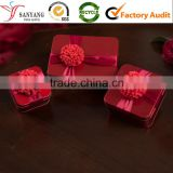 Wedding ceremony box celebration gift metal packing box / red tin box