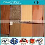 wood grain exterior aluminum facade panel, building facade aluminum sandwich board, plastic exterior wall decorative materials