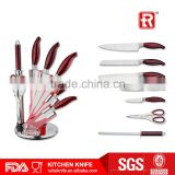 7PCS kitchen knife set in arylic block/Knife rack magnetic holder steel/knife knifes