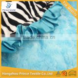 Zebra With Teal Blue Ruffled 10pcs MOQ Baby Blanket                                                                         Quality Choice