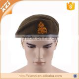 High quality patch badge wool military beret for sale