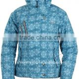 Ladies' detachable hood winter seamless formal jacket with high function(WL8301)