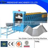 Large Span zinc coatec Roof 914-610 Arched Roof Panel K Span Arch Roof Roll Forming Machine