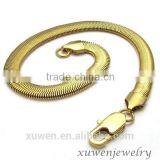 gold plated stainless steel wholesale snake chain bracelets