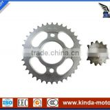 1011040 Motorcycle front and rear sprocket for HAOJIN MD CDI125 CG125 CG150 JAGUAR, High quality