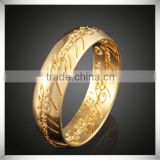 Newest Arabic Language Engraved Gold Jewelry Design Wedding Ring Gold