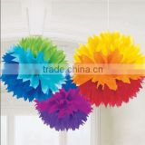 Color tissue paper pom poms flower balls with free samples
