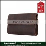 fashion design mens clutch bag genuine leather retro wallet for man China factory wholesale bags