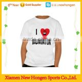 customized kids plain white sublimation badminton jersey dry fit t-shirts