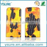 Yellow Crocodile Pattern Top Grade Flip Wallet Leather Phone Case For BLU Studio G With Plaid Pattern Lining