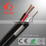 coaxial cable RG59+2power cable Siamese cable for CCTV camera 75ohms security cable copper wire spool with CE RoHS approved