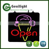 Popular Animated Open ICE CREAM LED Neon Store Shop Sign
