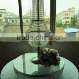 new designe, elegant rotatable Table Top Wedding Crystal Wedding Chandelier Centerpieces for wedding decoration