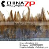 CHINAZP Crafts Factory Wholesale Popular Cock Plume Colored Grey and Natural Rooster Saddle Feathers Trimmings