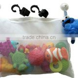 Bath Toy Organizer-Bonus 2 Stroller Hooks can also be used as a Crib Caddy, Stroller or Back Seat Organizer