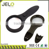 Super Bright 6LED 4X Glass Material LED UV light Magnifying Glass For Reading Outdoor Necessary