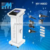 MY-N80D 7 in 1best fractional rf skin tightening face lifting machine& laser fast cavitation slimming machine