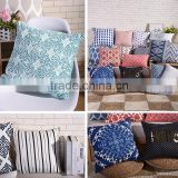 hot selling product customized size plain cotton throw pillow cover