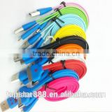 Gleamy Micro USB Data Cable with LED Light Smile Face Colorful cable for android phones