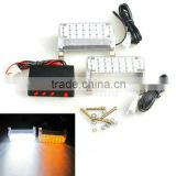 44 LED Daytime running lights Flash DRL LED Emergency Police Car Working Truck Firemen Warning Strobe Lights