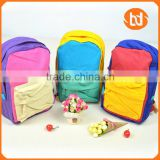High quality fashion cotton backpack/shoulder bag/school bag for students