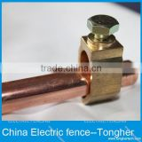 Copper coated electric fence grounding rods with connector for electric fencing earth rod