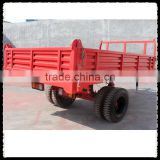 Super quality single axle 4 wheels oil brake wheel cylinder farm trailer for garden tractor