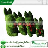 Rabbit Wire Frame Topiary with Moss Topiary Garden Decoration
