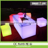 Led lighting folding bar table , white acrylic bar counter , Movable bar table