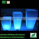 LED large garden flower pots blue /led purple ceramic flower pots flower pot light for outdoor
