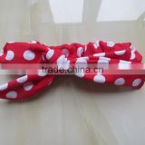 XF-404 Wholesale Children hair accessories fancy baby girls headbands polka dot hairband