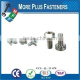 Made in Taiwan Stainless Steel M3-0.5 x 6mm Phillips Pan Head Zinc Finish Steel Internal Tooth Washer SEMS Machine Screw