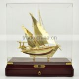 Wholesale new design handcrafted wooden model ship ,container ship model with company souvenir gift