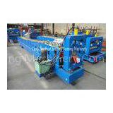 6KW Color Ridge Roofing Sheet / Cap Gutter Roll Forming Machine With 18 Rows